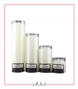 ست شمع 4 تایی سفید imperial استوانه ای