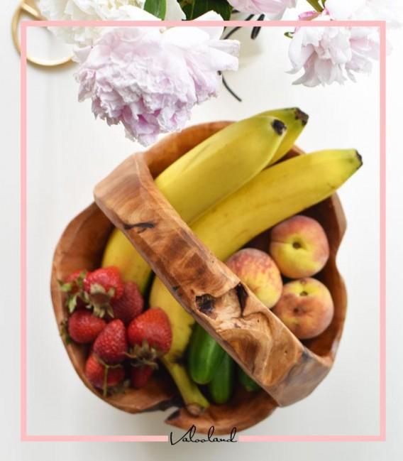 میوه خوری دسته دار چوب پایه
