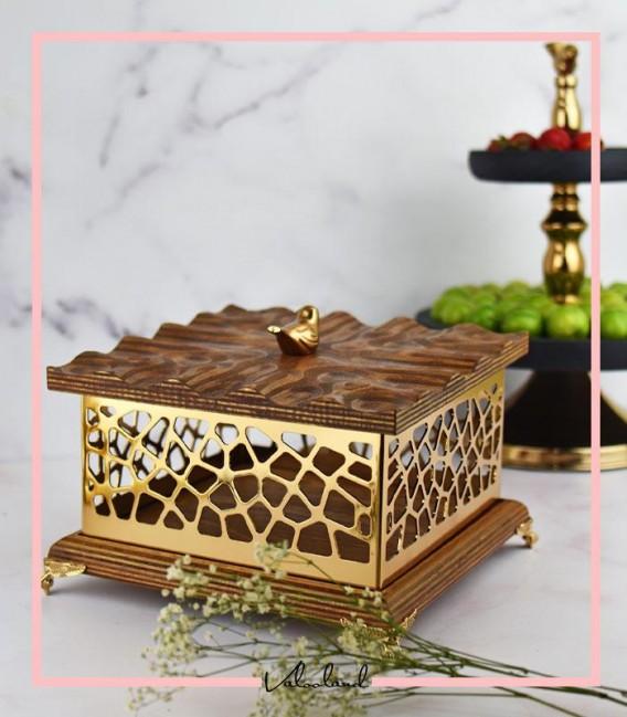شکلات طرحدار مربع چوبی بزرگ