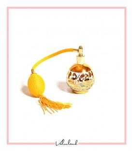 جا عطری نارنجی طلایی شیشه ای