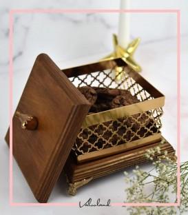 شکلات خوری طرحدار مربع متوسط
