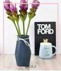 گلدان حجمی پاپیون دار سرمه ایی