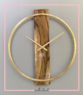 ساعت دیواری مدل الوار آنتیک زئوس طلایی متالیک