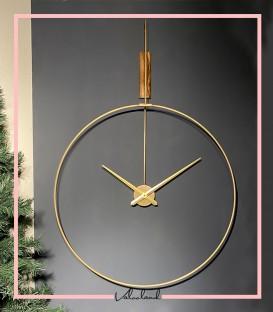 ساعت دیواری سیگنال پلاس طلایی