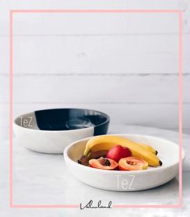 ظرف میوه خوری دو رنگی سنگی