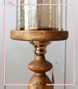 شمعدان رومیزی چوبی