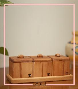 ست باکس دمنوش چوبی