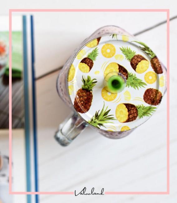 لیوان اسموتی طرح آناناس