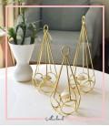 شمعدان رومیزی مایا طلایی