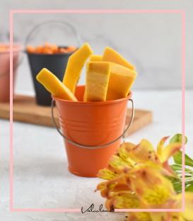 سطل هزار چهره نارنجی پررنگ کوچک