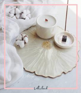 شمع سرامیکی سفید