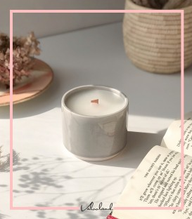 شمع سرامیکی طوسی