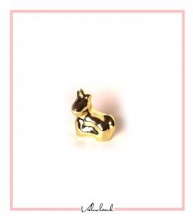 مجسمه اسب شاخدار نشسته طلایی کوچک