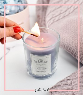 شمع لیوانی معطر یاسی