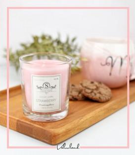 شمع لیوانی معطر صورتی