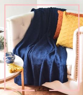 شال مبل مدل هندسی رنگ سرمه ایی