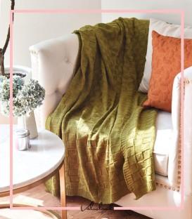 شال مبل مدل هندسی رنگ زیتونی