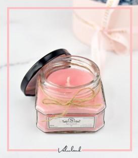 شمع شیشه ایی عطری توت فرنگی