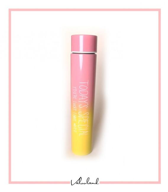 فلاسک همراه استوانه ای رنگین کمان صورتی زرد