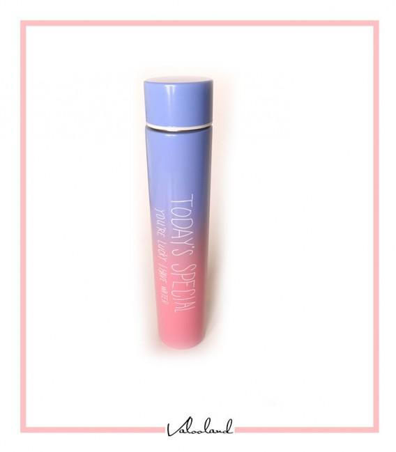 فلاسک همراه استوانه ای رنگین کمان آبی صورتی