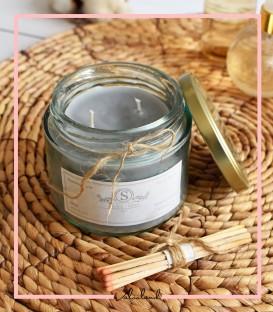 شمع لیوانی معطر طوسی 280میل