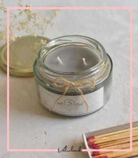 شمع لیوانی معطر طوسی 210میل