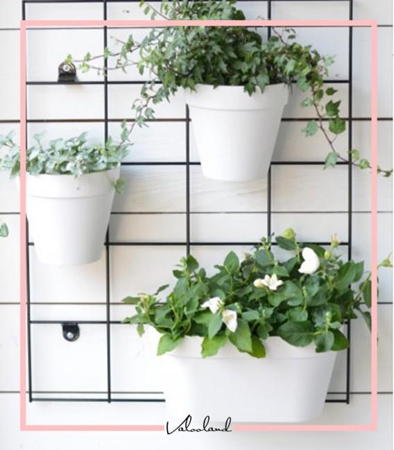 گلدان کوچک دیواری سفید