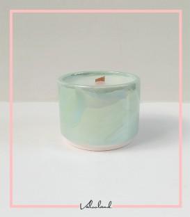 شمع سرامیکی آبی