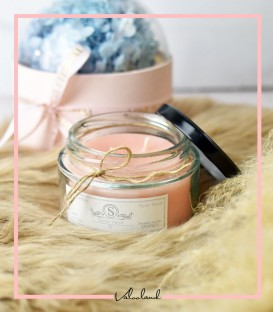 شمع لیوانی معطر صورتی 210میل