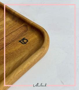 سینی چوبی ساده با گوشه گرد