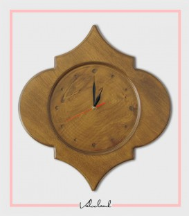 ساعت دیواری چوبی تهمینه
