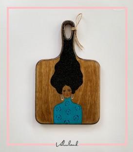 تخته سرو چوبی مربعی نقاشی طرح لیلیان