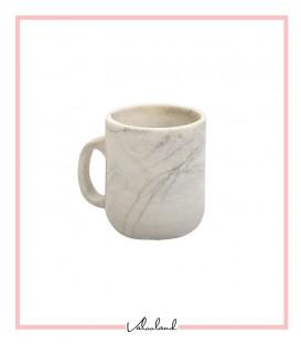 لیوان دسته دار سنگی سفید