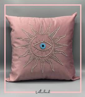کوسن خورشید نقره ایی صورتی