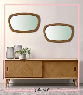آینه چوبی مستطیلی