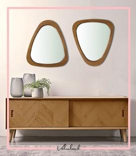 آینه مثلثی چوبی