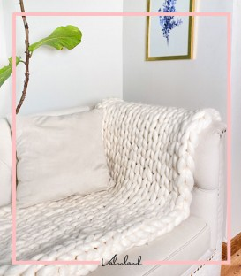 شال مبلی چانکی سفید