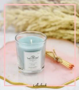 شمع لیوانی معطرآبی روشن