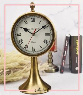 ساعت رومیزی با پایه طلایی مرسانا