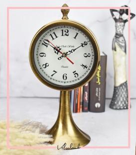 ساعت رومیزی با پایه طلایی وستا