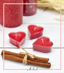 ست شمع 3 تایی imperial قلب قرمز