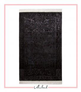 فرش مدرن دستباف مشکی دهن اژدری