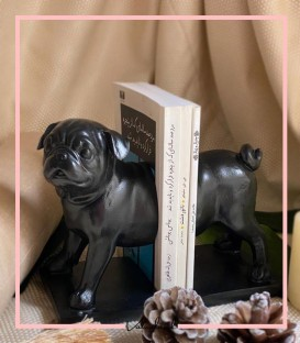 مجسمه نگهدارنده کتاب طرح سگ