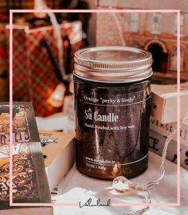 شمع معطر و گیاهی شیشه ایی سویا