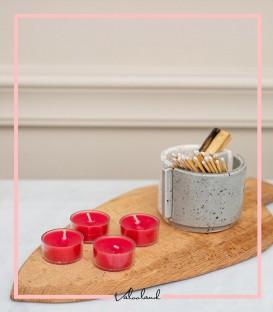 شمع وارمر عطری قرمز