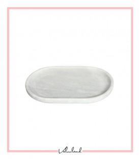 بشقاب سنگی بیضی سفید کوچک