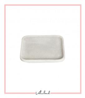 بشقاب سنگی سفید مربع کوچک
