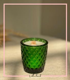 شمع طرح کریستال سبز رنگ