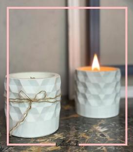 شمع بتنی طرحدار دستساز