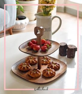 شیرینی خوری دو طبقه چوبی